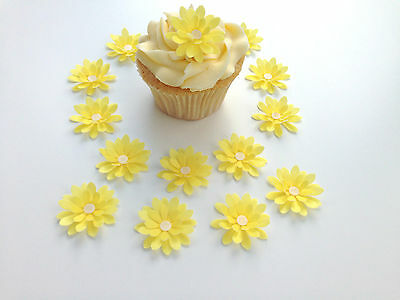 Tireless 14 Comestible Amarillo 3d Flores Precortado Oblea Adornos De Cupcake Home & Garden Other Baking Accessories