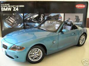 Details About Bmw Z4 Cabriolet Convertible Bleu Clair A 1 12 Kyosho 08604bl Voiture Miniature
