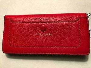 MARC-JACOBS-RED-POPPY-APPLE-PEBBLED-LEATHER-EMPIRE-CITY-ZIPPERED-WALLET-B25
