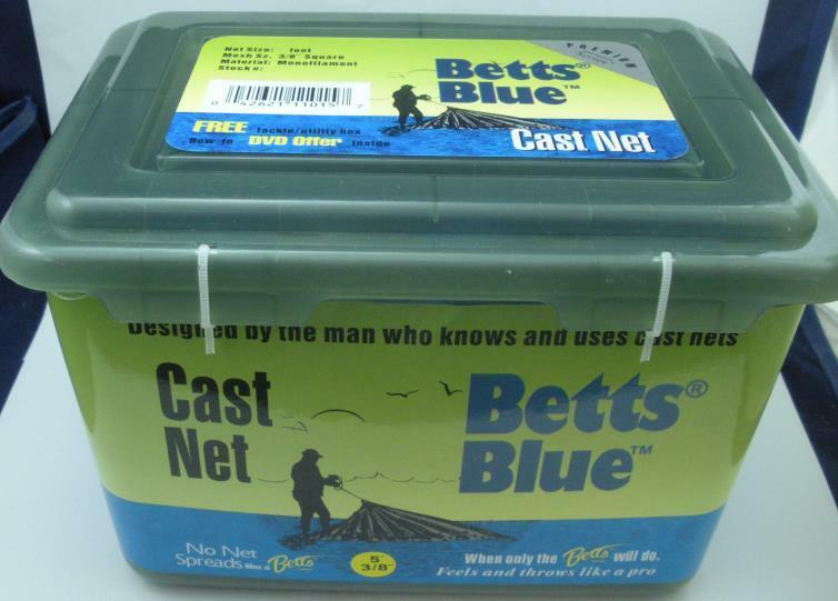 Betts 17MB4 Blau 17M Professionelle Serie Castnet 1,2 M Radius X 1cm Netzgewebe
