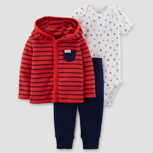11b6abad1609 Image is loading Carters-Baby-Boy-Newborn-9-Months-Cardigan-Bodysuit-