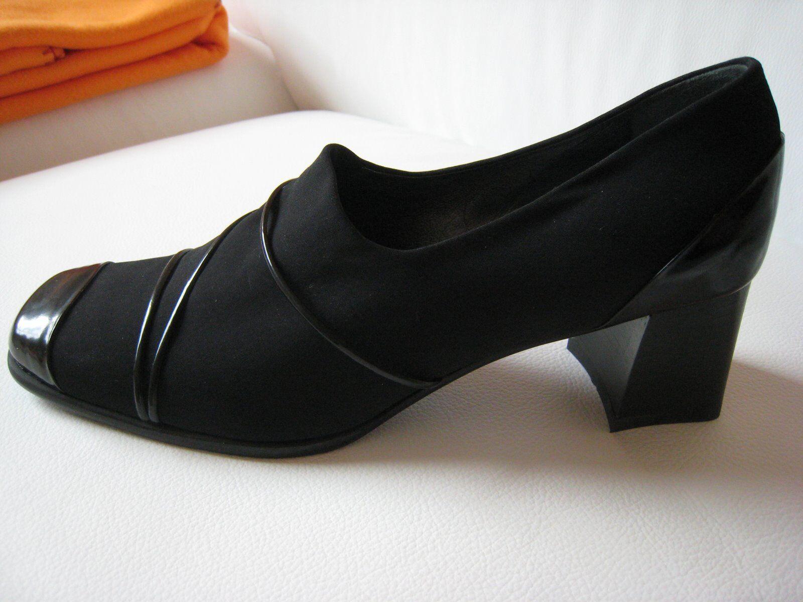 PUMPS 40 von Maripe  Gr. 40 PUMPS  schwarz  extravagant  ital Chic  NEU 89468c