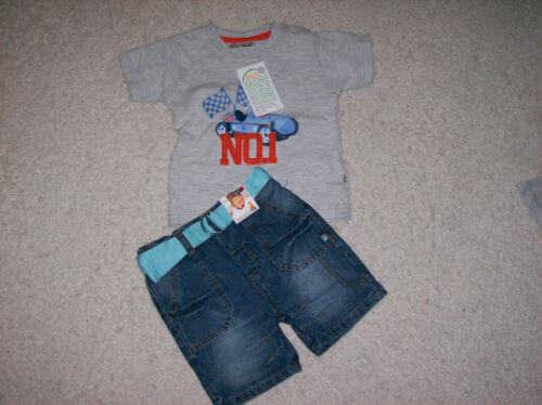 Ergee Set Kombination T-Shirt mit kurzer Jeanshose  Gr NEU * 68 74 80