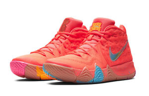 huge discount 23e67 8cef8 Image is loading Nike-Kyrie-4-Lucky-Charms-Bright-Crimson-Multicolor-