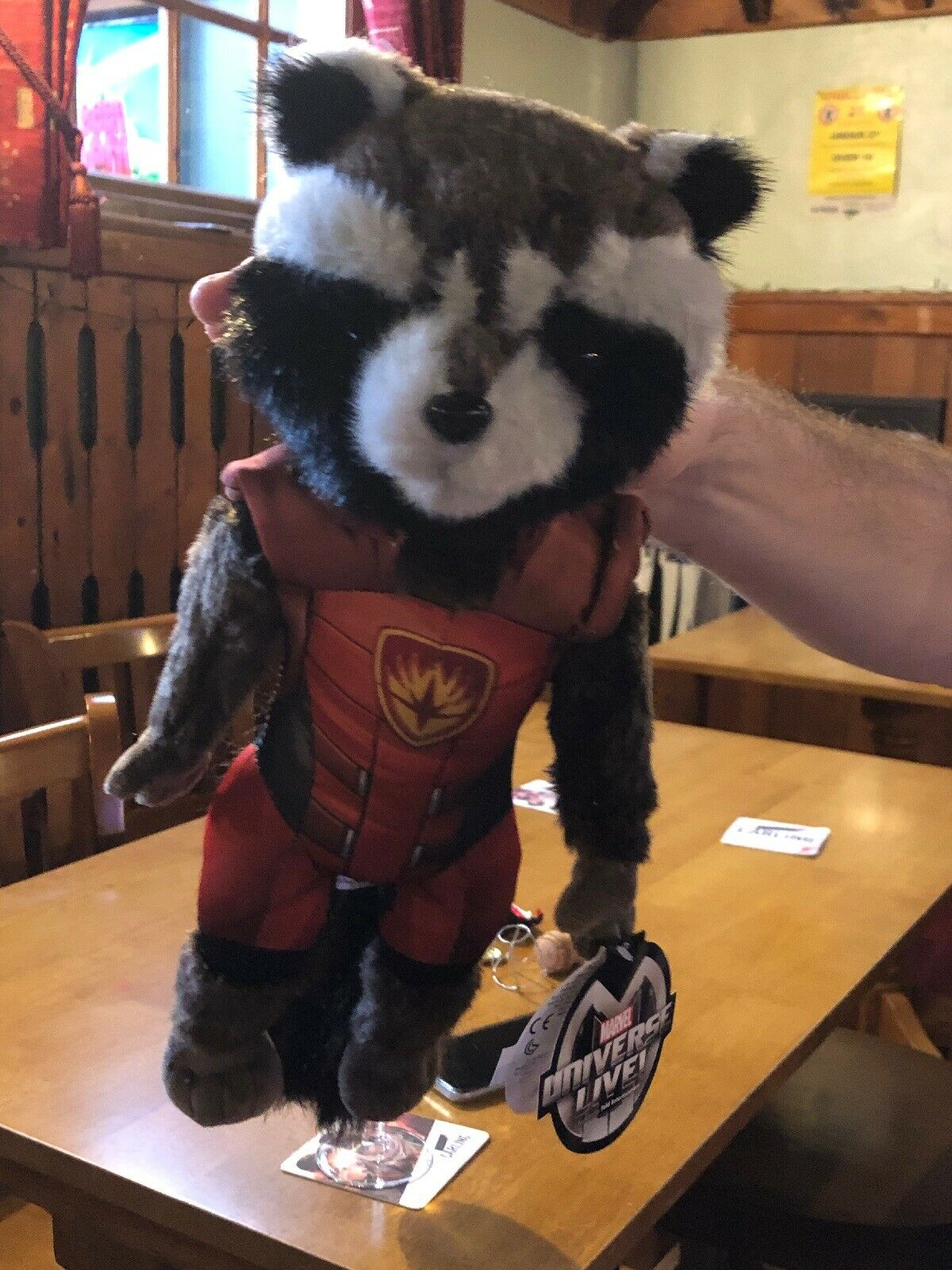 BNWT official merch from Marvel live raccoon plush rrp