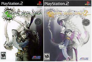 Shin-Megami-Tensei-Digital-Devil-Saga-1-amp-2-Dual-Pack-PlayStation-2-PS2-NTSC
