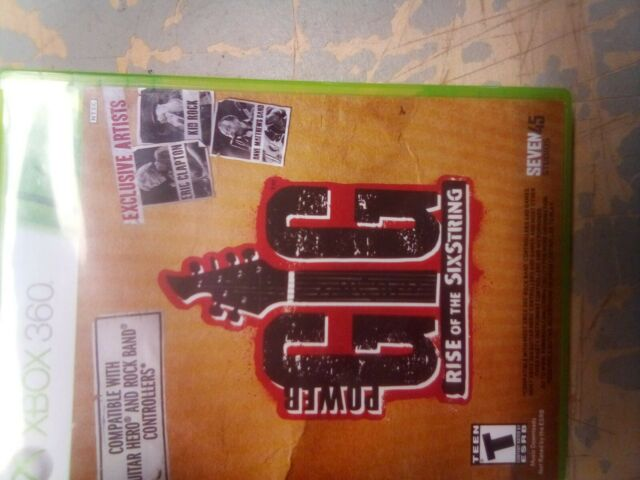Power Gig: Rise of the SixString (Microsoft Xbox 360) Case Game Artwork & Manual