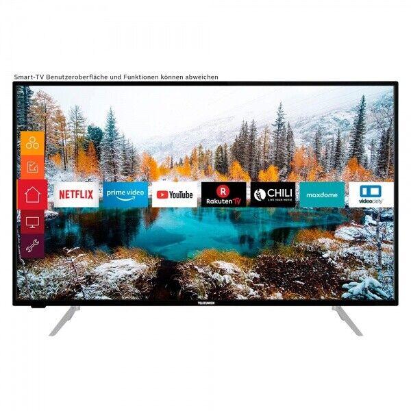Telefunken D43V800M4CWH LED-Fernseher 108cm 43 Zoll 4K Smart-TV HDR10 1800Hz PVR