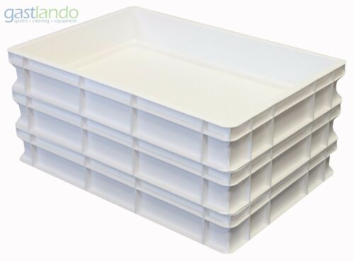 Teigbehälter weiß Pizzateig NEUE GRÖßE 600x400x100mm Gastlando