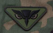 Mil-Spec Monkey Owl Head Morale Patch Forest Green Hook Back