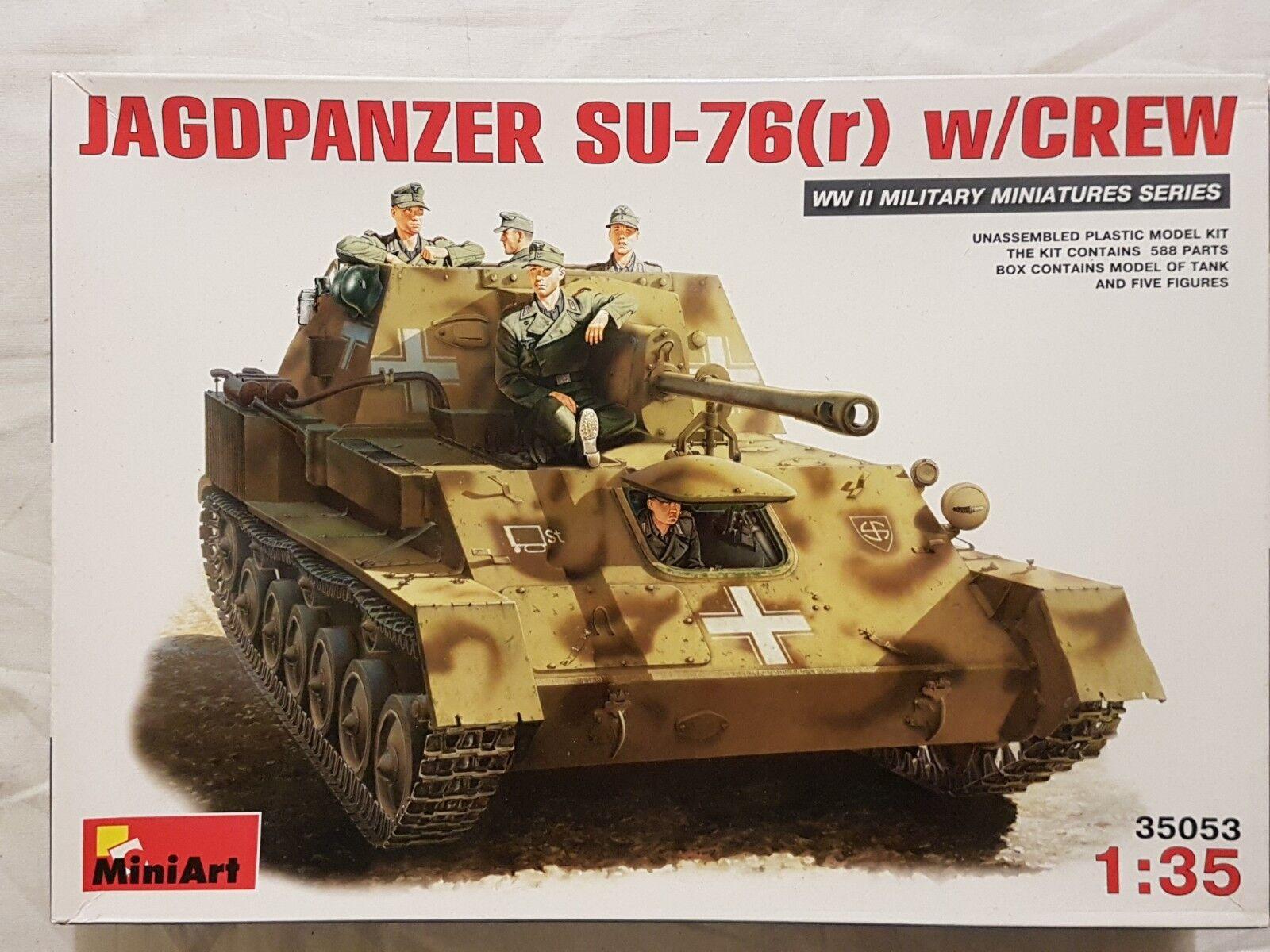 Miniart 35053 35053 35053 Jagdpanzer SU-76(r) w Crew 1 35 Neu und eingetütet  | Starke Hitze- und Abnutzungsbeständigkeit  cb6294