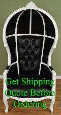 Porter Chair - Balloon, Bonnet, Canopy, Dome, Egg Shape Gloss White w/ Black