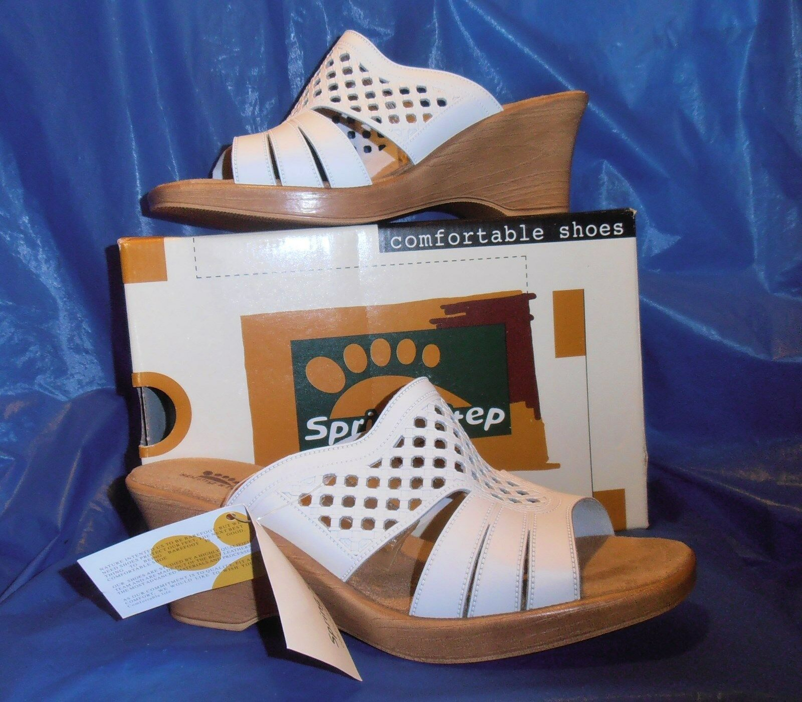 SPRING STEP Sandal TOPAZ....white size 11-111 2  euro42