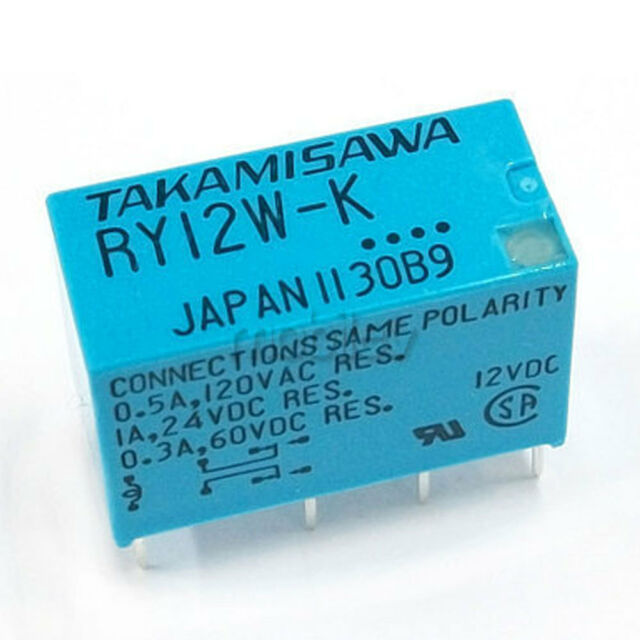 10 X Ry12w-k 12vdc Relay 8 Pin DPDT Signal Relay TAKAMISAWA Fujitsu ...