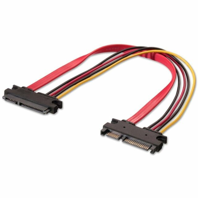 Sata 15+7 pin combined Power and Data 30cm Extension Cable Male to Female