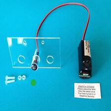 Single Flashing Switched Dummy Alarm LED Green & Bracket 10 Yr Battery SIN