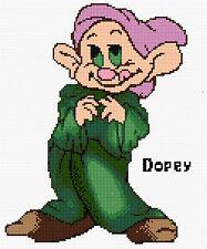 "Dopey- The 7 Dwarfs Counted Cross Stitch Kit Disney 9"" x 11"" Designs In Thread"