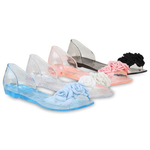 Damen Sandalen Riemchensandalen Transparente Sommer Badeschuhe 826557 Schuhe