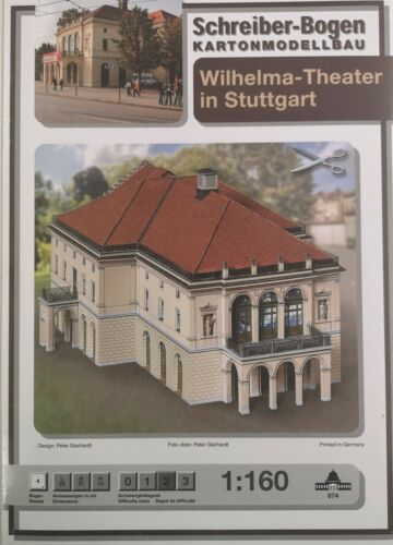Schreiber-Bogen Kartonmodellbau Wilhelma Theater 1:160Aue-Verlag 674