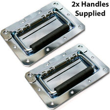 2x Spring Loaded Speaker Drop Handle –Strong Metal Carry–Recess Case Cabinet Box