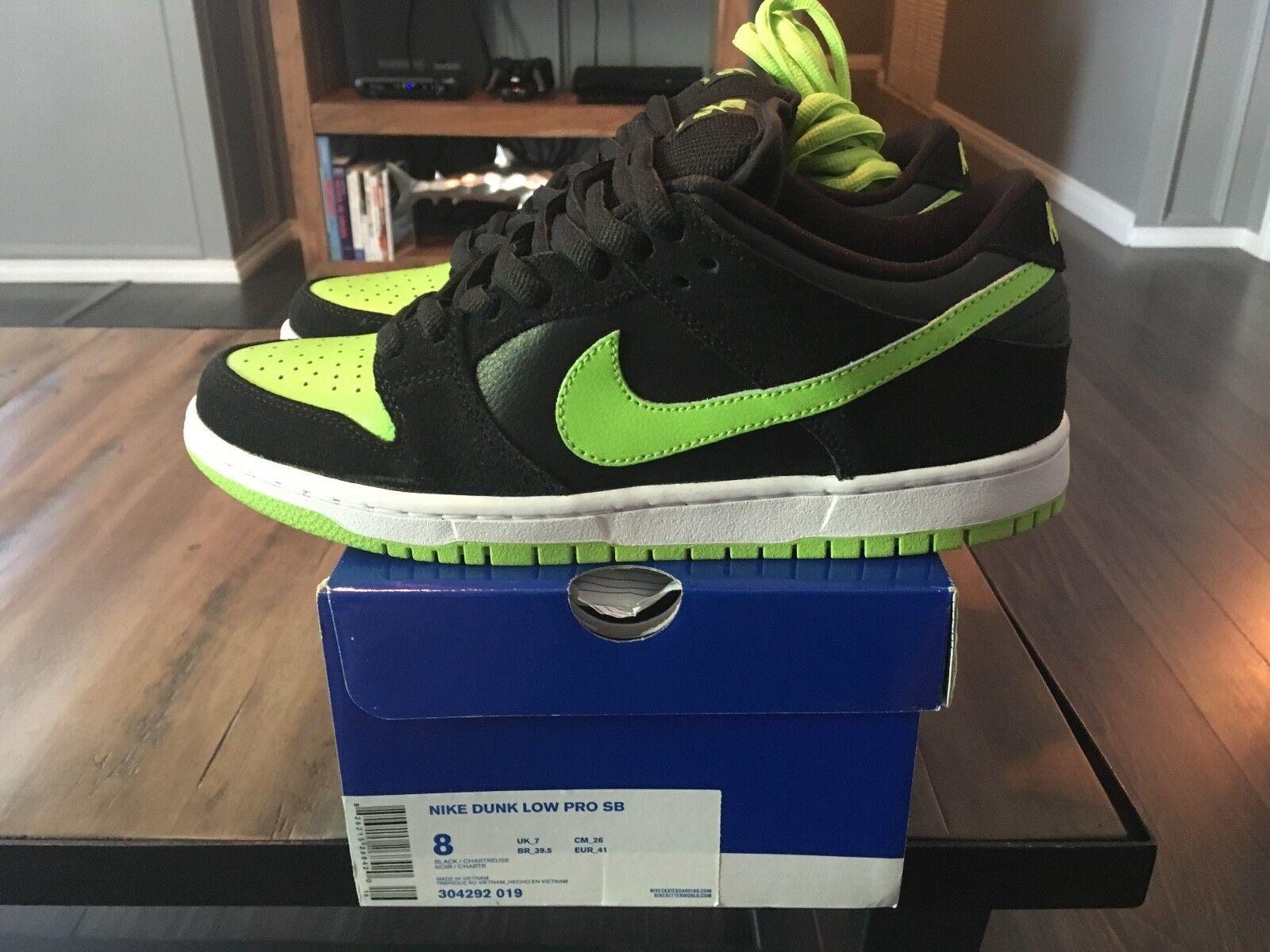 Nike sb schiacciare basso neon j-pack 8 nuova confezione chartreuse 304292-019 j