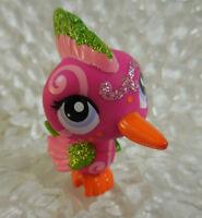 LPS Glitter Pink Bird Purple Eyes 2340 Littlest Pet Shop