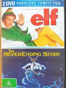 Elf-The-NeverEnding-Story-2-DVD-Set-Region-4-FREE-Next-Day-Post-from-NSW