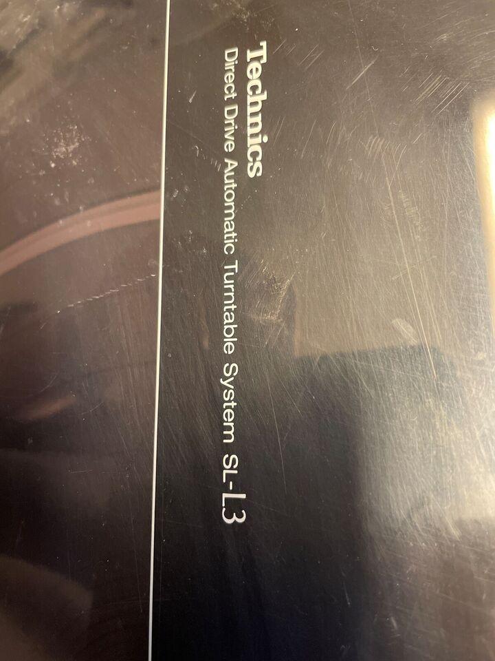 Pladespiller, Technics, sL-L3