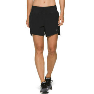 Haut-Femme-Asics-Road-5-5-in-environ-13-97-cm-Short-Pantalon-Pantalon-Noir-Sport-Running