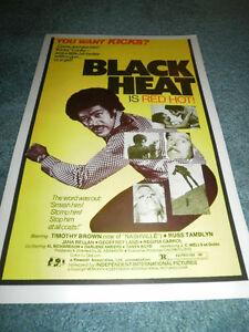 BLACK HEAT  (1976)TIMOTHY BROWN ORIG PRESSBOOK!