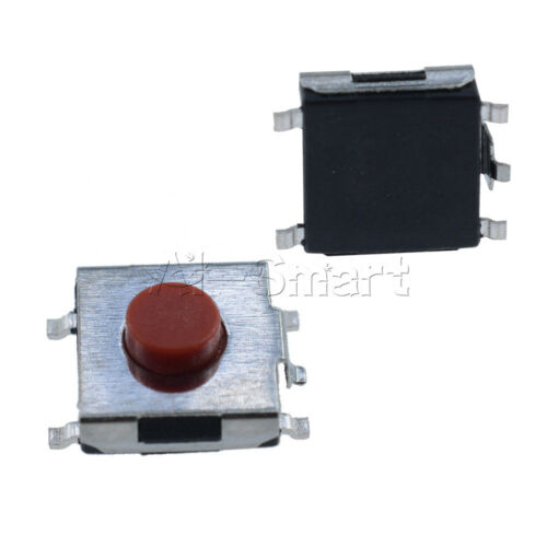 100 Pcs SMD 4pin Momentary Push Button Tactile Tact Switches 6x6x3.1mm AS
