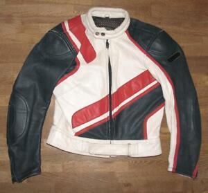 034-RABERG-034-Damen-Motorrad-Lederjacke-Biker-Jacke-Kombijacke-in-ca-Gr-40