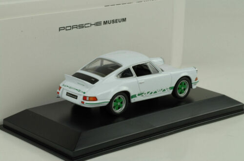 1973 Porsche 911 Carrera RS 2.7 white green stripes weiss 1:43 Welly Museum