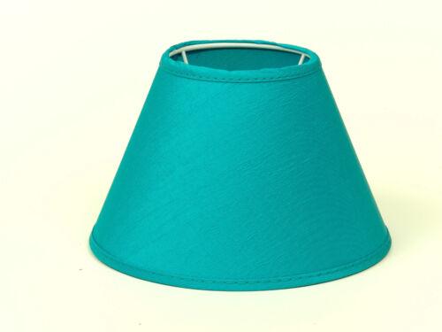 Lampenschirm Türkis Seidig Glänzend Tischleuchte  Nachttischlampe E14 18cm