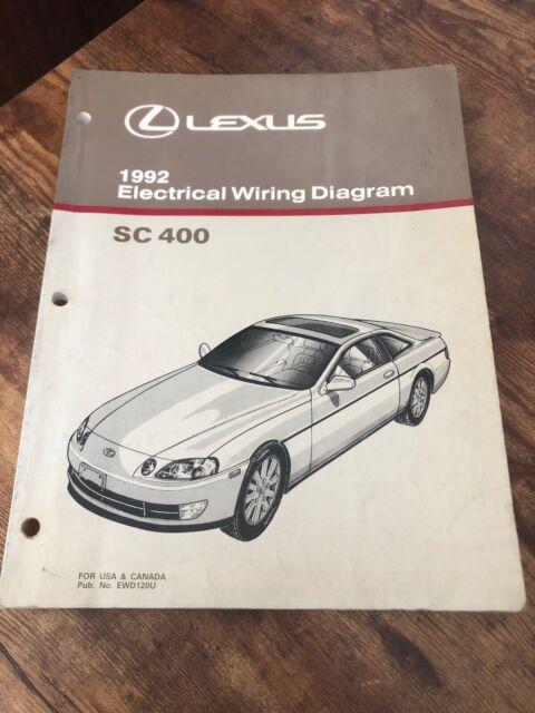 1992 Lexus Sc 400 Electrical Wiring Diagram Manual