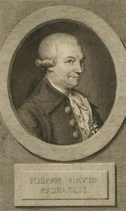 Bildnis Johann David Michaelis, Theologe zur Zeit d. Aufklärung, 18. Jh., Kupfer