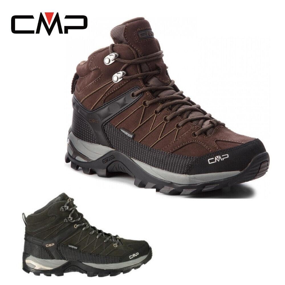 CMP Campagnolo Rigel mid trekking WP señores botín de senderisml negro marrón