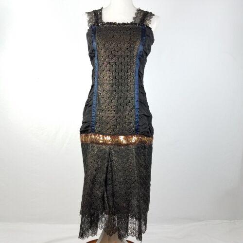 Gunne Sax Jessica McClintock Burlesque Dress Black