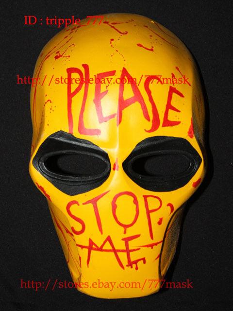 Airsoft Masque Halloween Costume Cosplay paintball casque Veuillez m'arrêter MA113