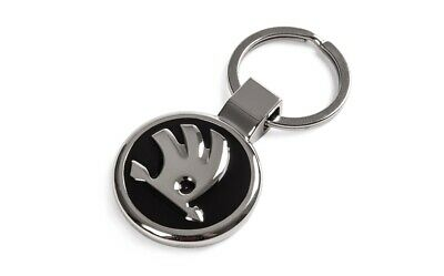 Skoda 000087010BL Key Fob Shopping Trolley Chip Metal Pendant