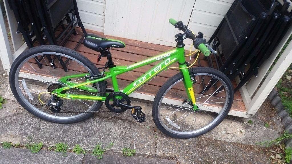 New Carrera green abyss junior bike