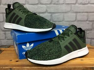 ADIDAS-ORIGINALS-MENS-UK-11-EU-46-X-PLR-KHAKI-GREEN-KNIT-TRAINERS-EP