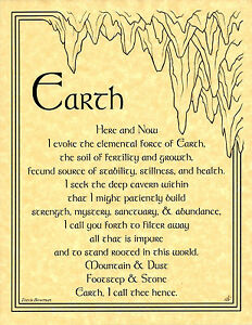 ELEMENT-of-EARTH-Left-Invocation-Page-Poster-Wicca-Pagan-8-1-2x11-Art