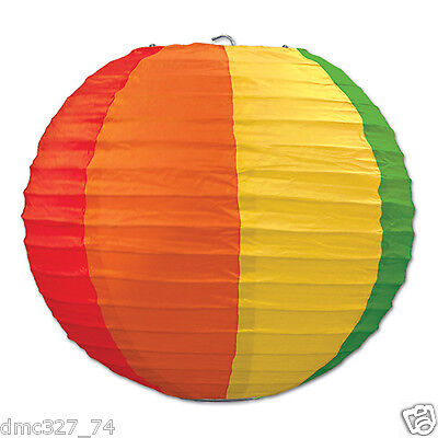 3 CARNIVAL Circus Big Top Party Decoration RAINBOW Colors HANGING LANTERNS