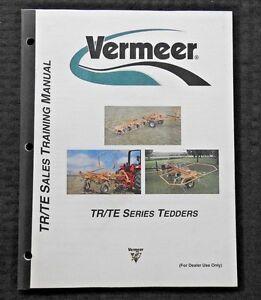 Details about GENUINE VERMEER TR90 TE170 TE330 TEDDER DEALER SALES MANUAL  VERY NICE