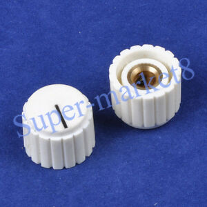 2pcs-Control-Knob-With-Point-Guitar-Pedal-Eeffect-Amp-Amplifier-1-4-034-Cream-White