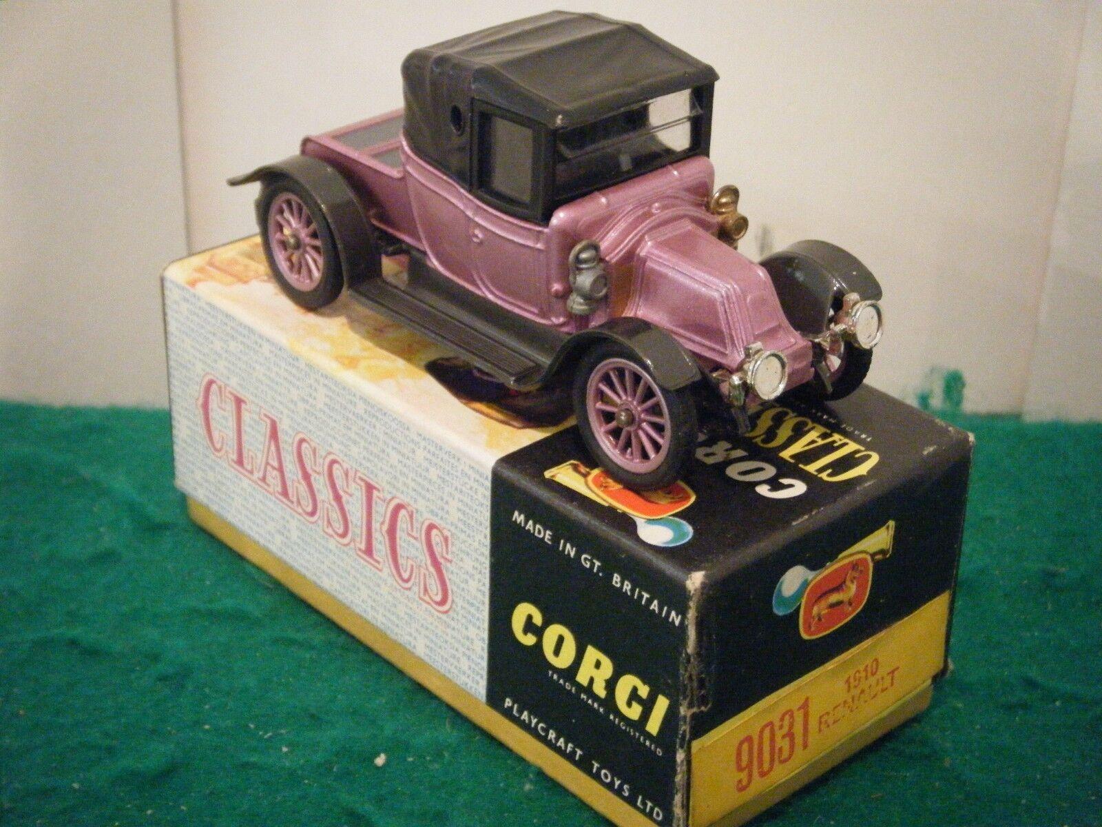 Corgi Classics No  9031  1910 Renault  - Purple Grey (Boxed)