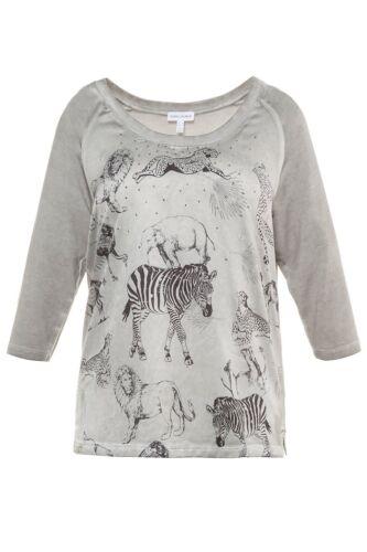 Gina Laura Shirt Raglan Arm Tiere Animal Druck vorne multicolor NEU