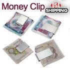 Stainless Steel Silver Slim Pocket Money Clip Holder USA Seller New