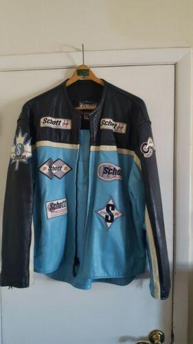 Mens Schott leather racing jacket